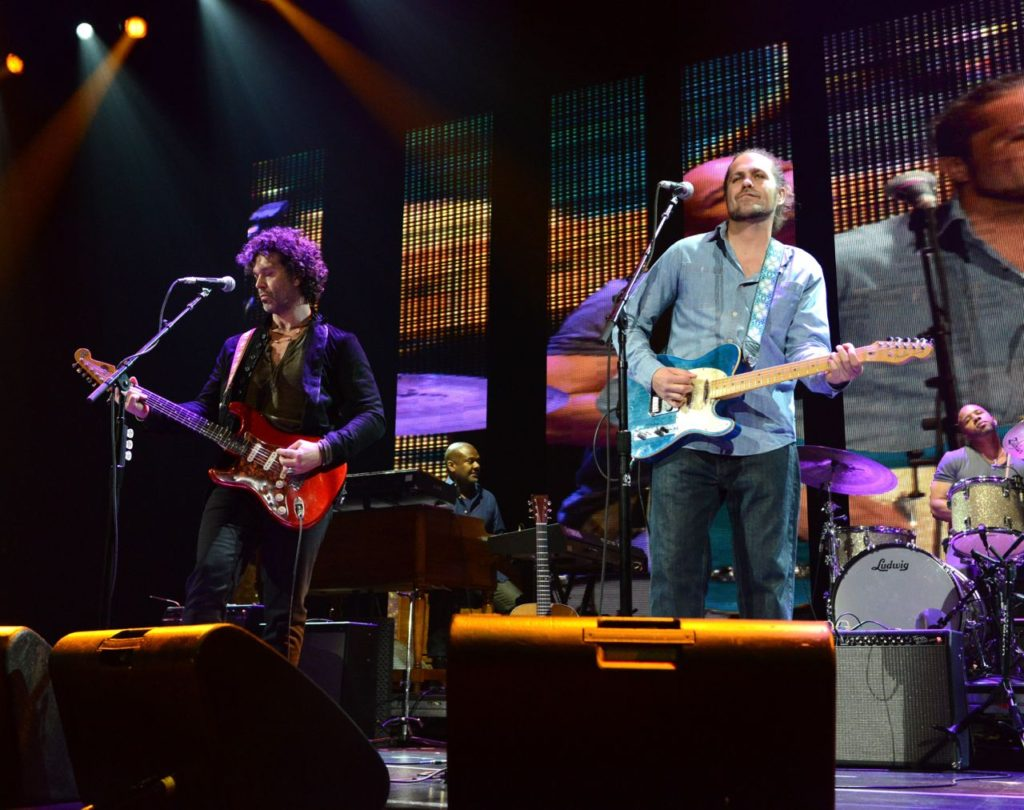 NEW YORK, NY - APRIL 12:  Doyle Bramhall II and Citizen Cope perform on stage during the 2013  Crossroads Guitar Festival at Madison Square Garden on April 12, 2013 in New York City.  (Photo by Kevin Mazur/WireImage) *** Local Caption *** Doyle Bramhall II; Citizen Cope