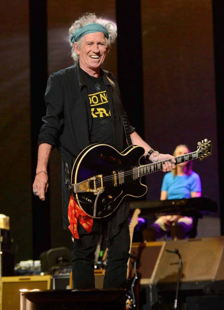 NEW YORK, NY - APRIL 13:  Keith Richards performs on stage during the 2013 Crossroads Guitar Festival at Madison Square Garden on April 13, 2013 in New York City.  (Photo by Kevin Mazur/WireImage) *** Local Caption *** Keith Richards